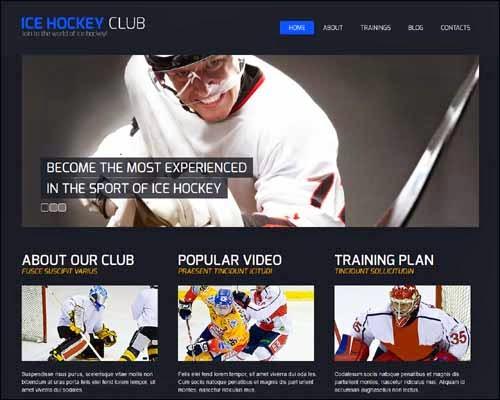 Hockey Responsive Dark Sport Joomla Template