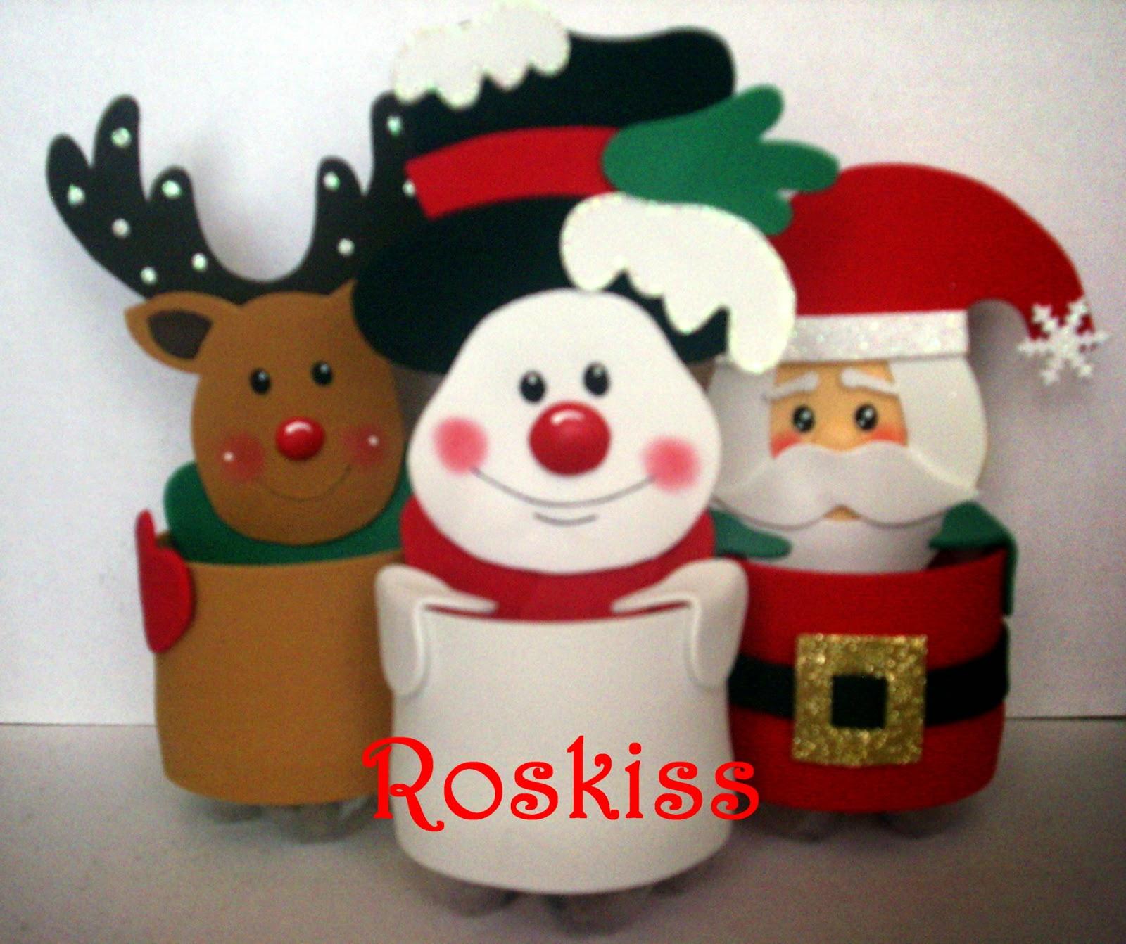 El atelier de roskiss dulceros navide os for Figuras de nieve navidenas
