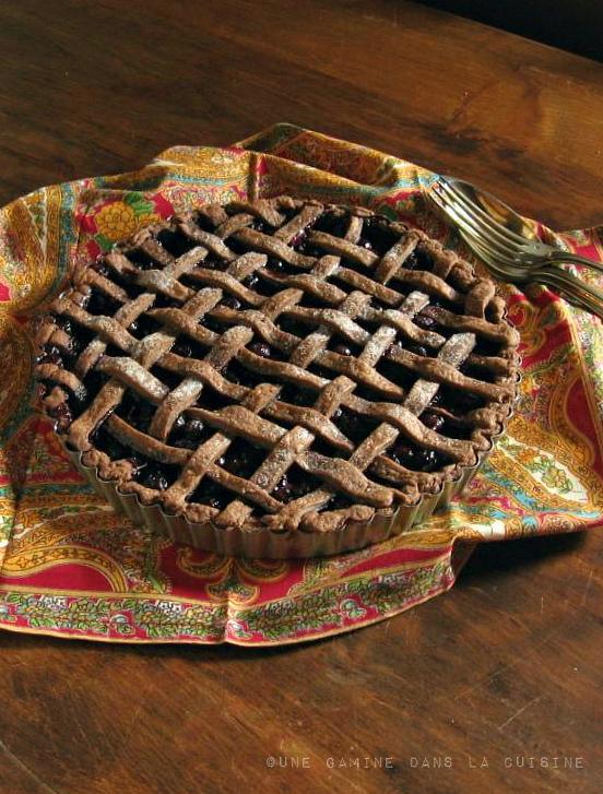 Blueberry Pie with Chocolate-Ginger Pâte Brisée | une gamine dans la cuisine