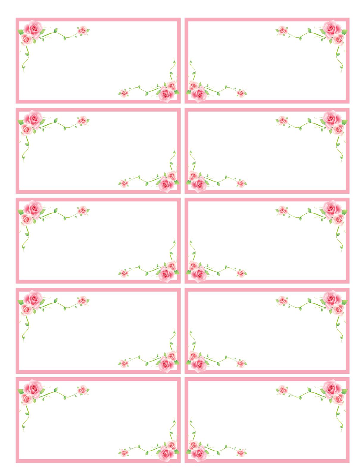Creazioni cla etichette fiorite - Stampabili per bambini gratis ...
