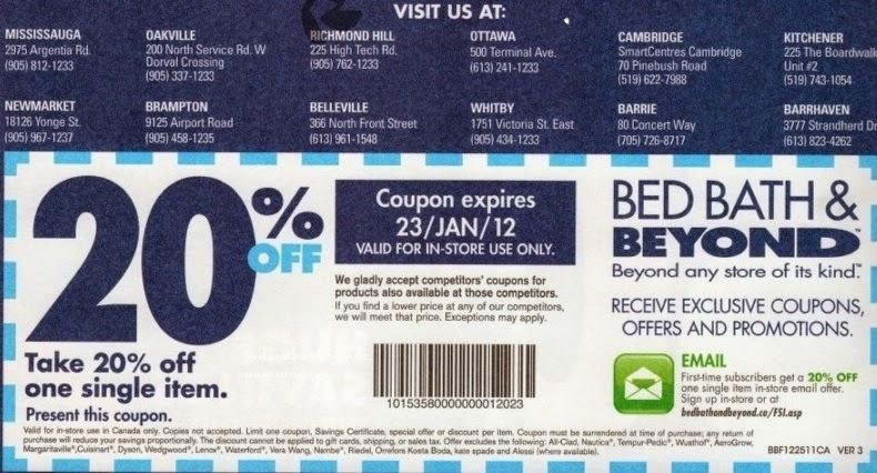 . bed bath and beyond coupon sep 2014