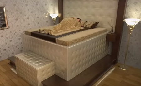 Protection from earthquake (You sleep and and this bed protect You )