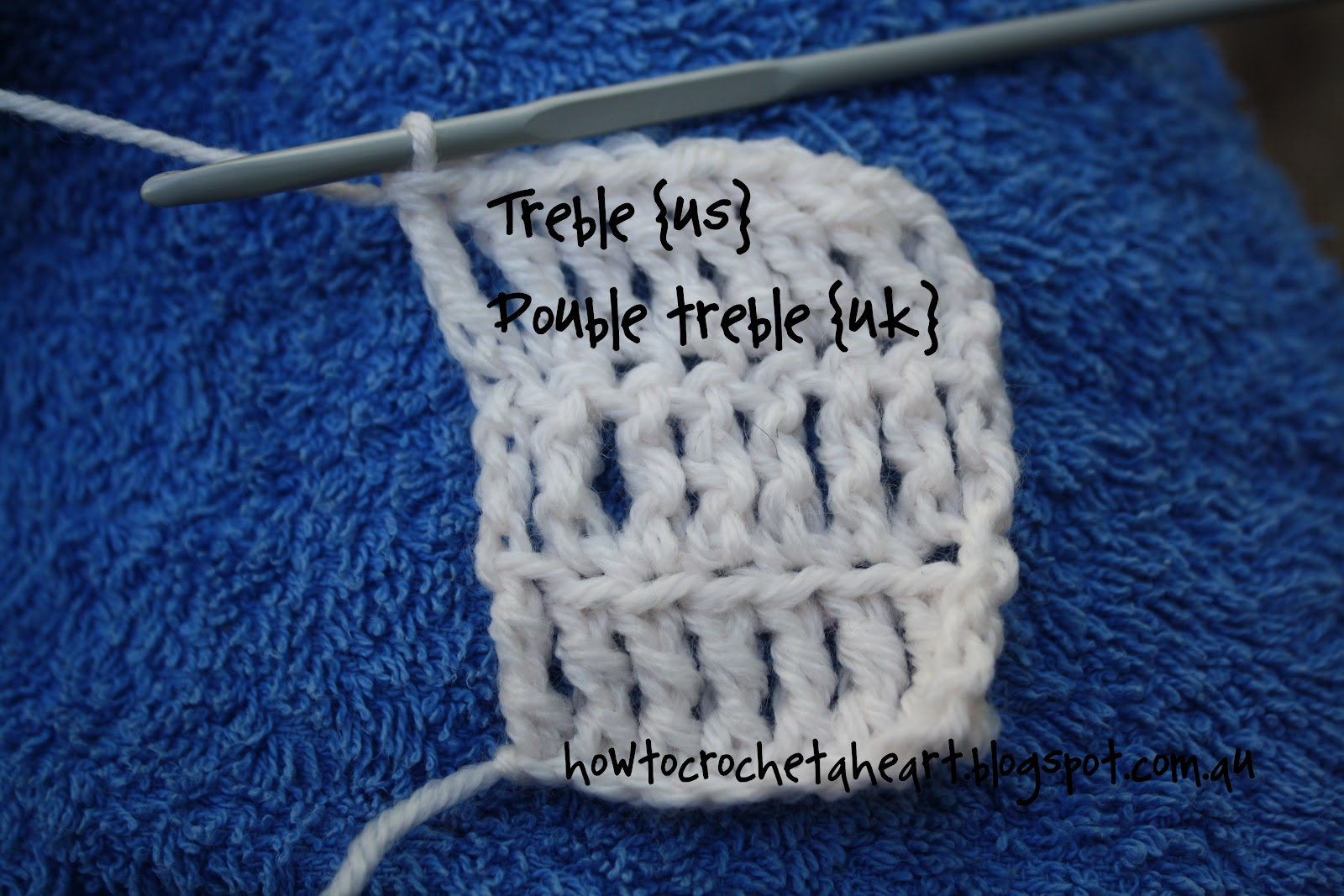 Crochet Stitches Uk Treble : How To Crochet a Heart: {crochet basics} Treble Crochet /Double Treble ...