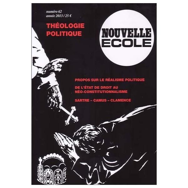 """Nouvelle Ecole 62 """"Théologie politique"""""""