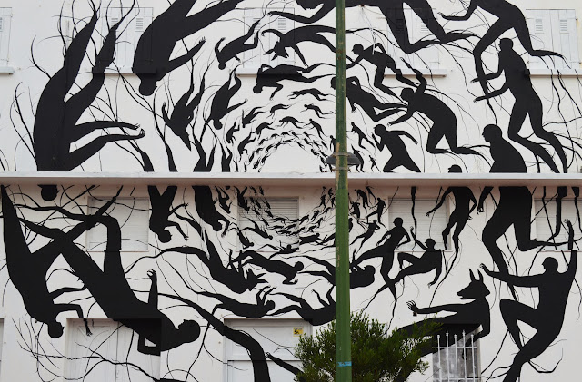"""Vortice"" New Mural BY David De La Mano on the streets of Punta Del Este in Uruguay. 2"