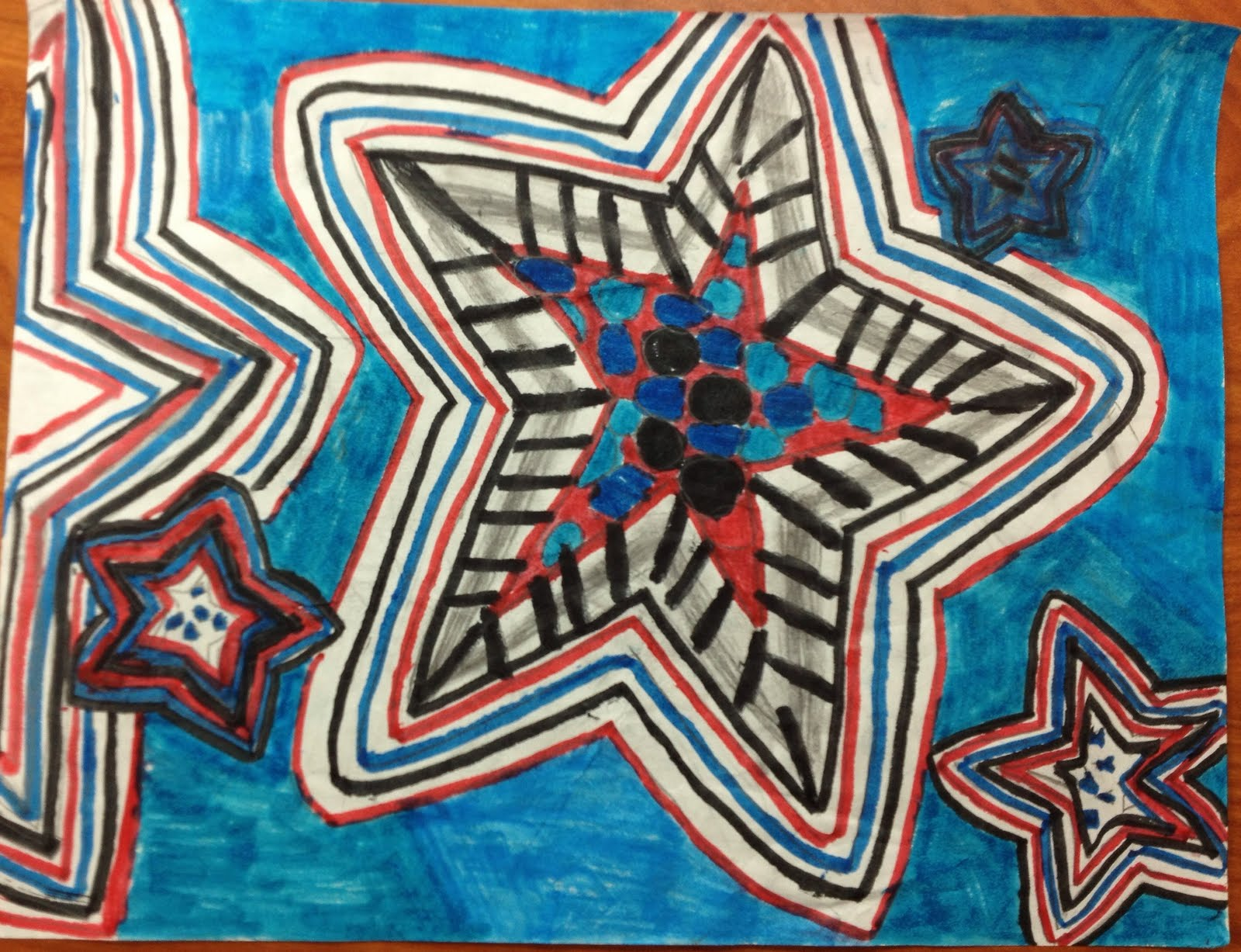 Line Art Grade : Sparkly art with ms carney patriotic line rd grade