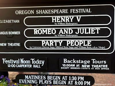 Oregon Shakespeare Festival, August 11, 2012