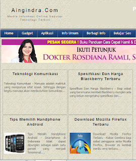 Aingindra.com - Informasi Harga Blackberry Dan Cara Membuat Blog