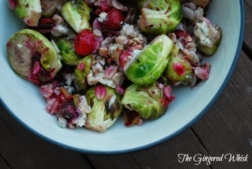 Roasted Brussels Sprouts And Cranberries With Barley Recipe