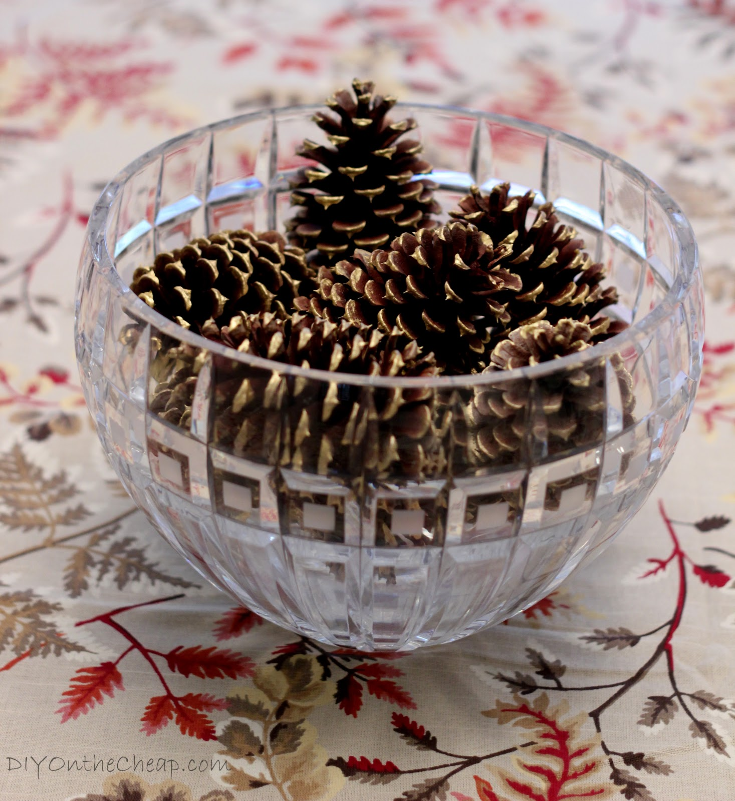 Pine Cone Bowl Gilded Pine Cone Centerpiece