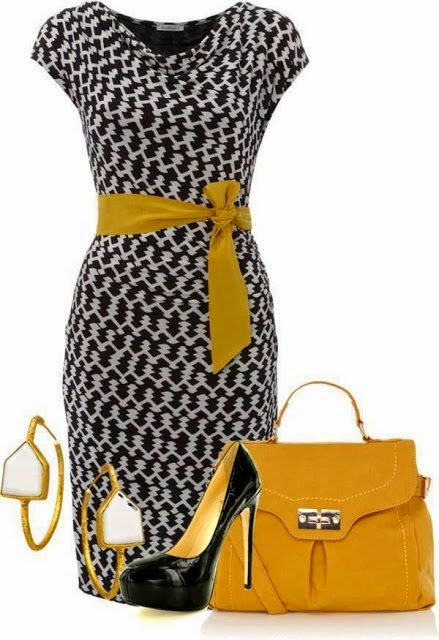 I will always love this color combo... bleed black and gold ;-D Professional Game Day Option :-P LOLO Moda: Chic Women's Fashion  See more http://worldcutefashion.blogspot.com/