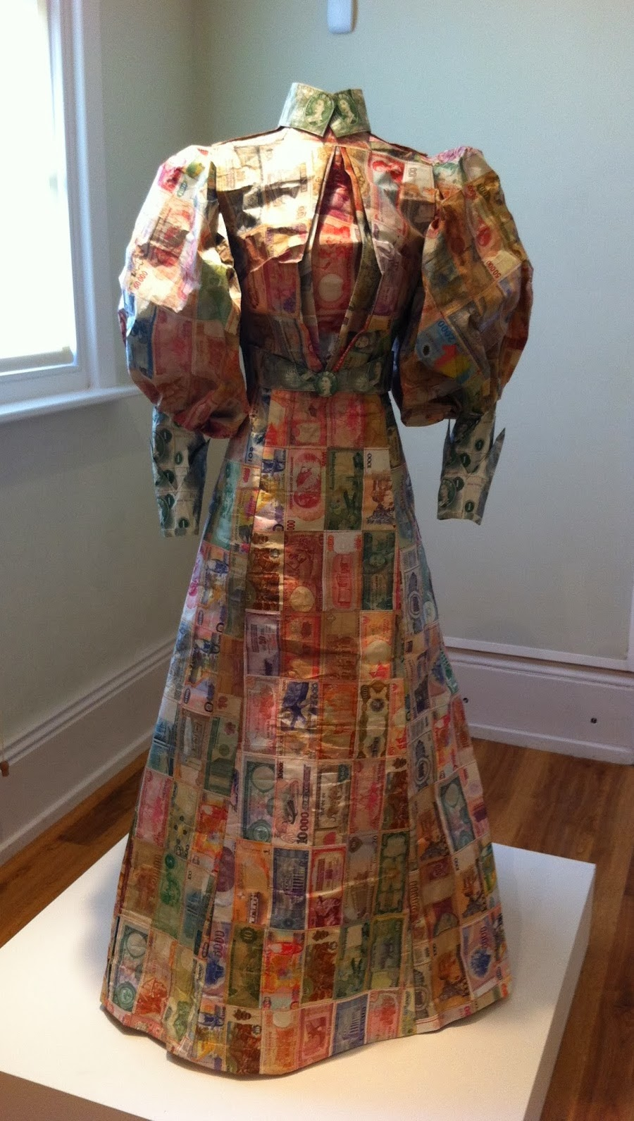 Simply Creative: Paper Maps and Money Victorian Gowns by Susan Stockwell