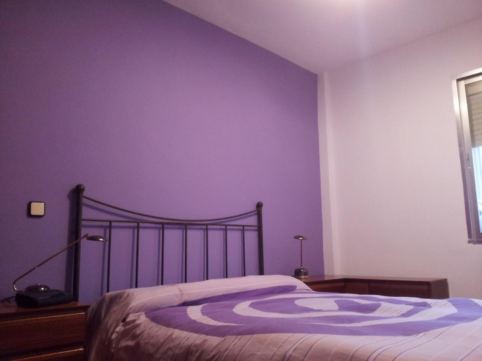 Alisado y pintura habitacion color morado violeta - Color de pintura para habitacion ...