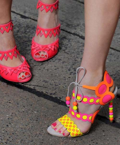 Adorable colorful summer high heel sandal fashion