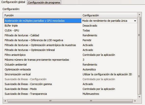 Configurar panel de Nvidia