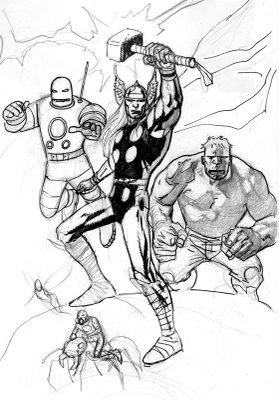 Desenhos Para Colori Os Vingadores desenhar