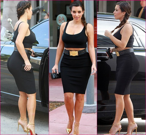 womenstyles kim kardashian shows off hourglass figure