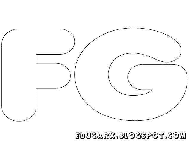 Molde de letras grandes fg