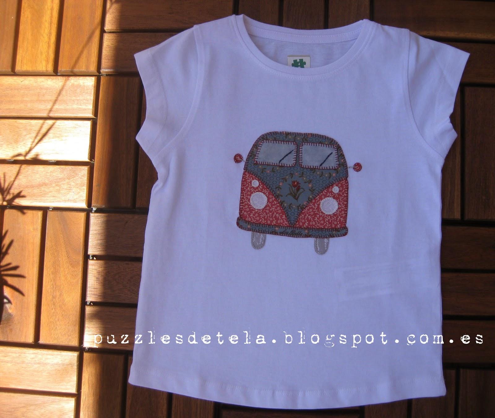 Camiseta Vintage patchwork, Vintage, camiseta patchwork, furgoneta vintage, camiseta furgoneta patchwork, aplicación furgoneta, camiseta con aplicación, Puzzles de tela, Camiseta furgoneta, Camiseta furgoneta volkswagen, Furgoneta Volkswagen
