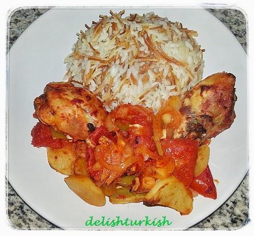 Roast Chicken With Potatoes Firinda Patatesli Tavuk Tava