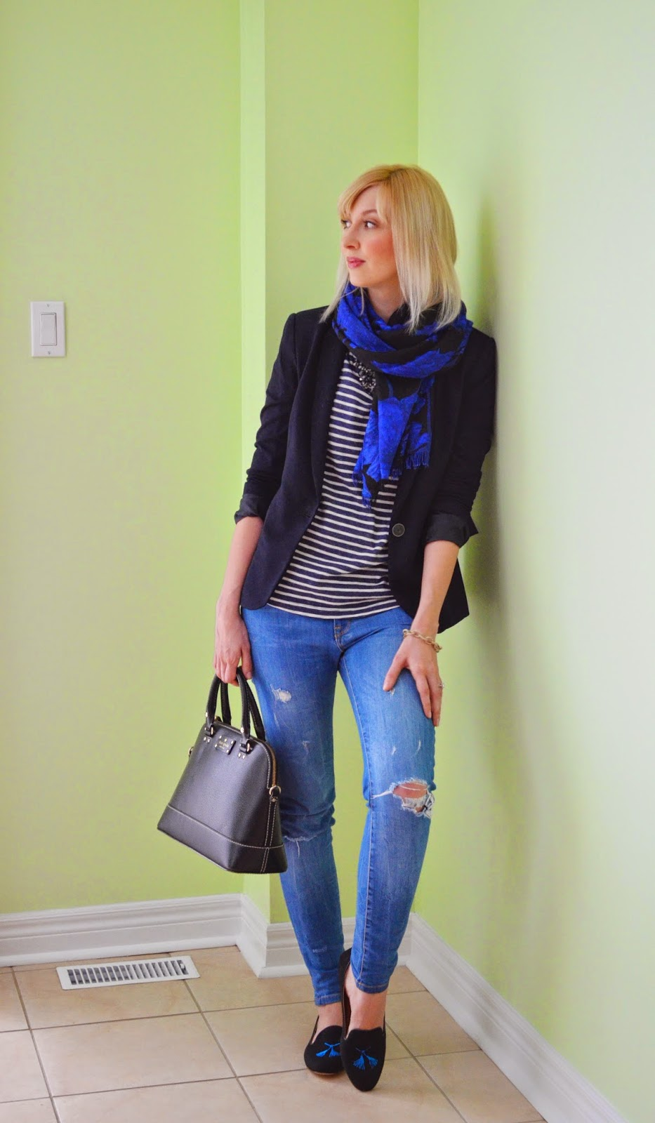 Style, OOTD, business casual, casual, Zara, Kate Spade, J. Crew, J. Crew factory, navy, navy and stripes, stripes, vibes,