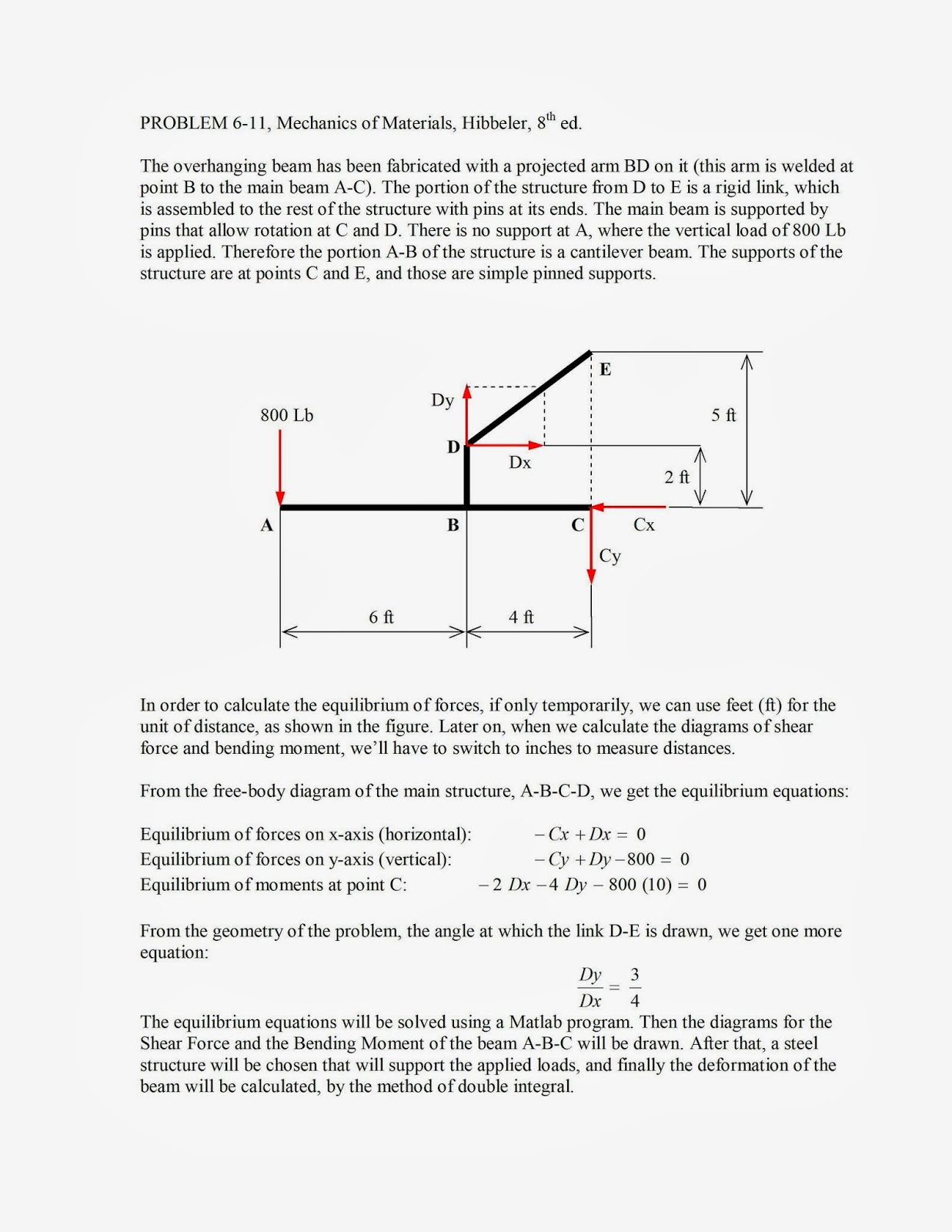 Mechanics shear force and bending moment diagrams using matlab problem 6 11 of mechanics of materials hibbeler 8th edition is solved using a matlab program pooptronica Choice Image