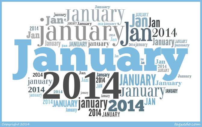 Jimjams - January 2014 with Tagxedo for Project Life
