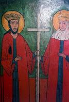 Sfinţii Împăraţi Constantin şi Elena, pictor Petru, secolul XIX, Oltenia de sub munte
