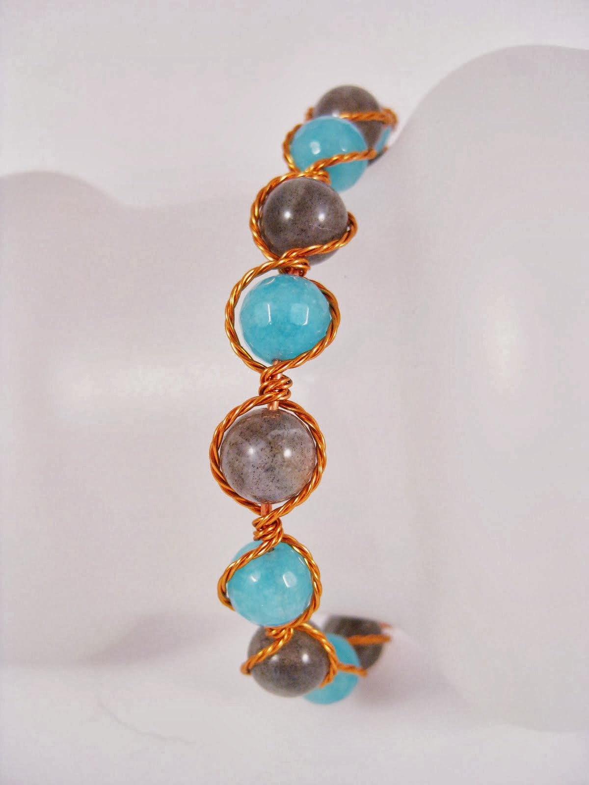Angelite Copper Cuff Bracelet