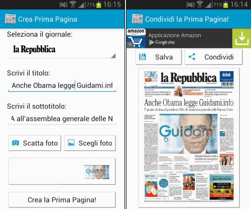 App Android Crea Prima Pagina