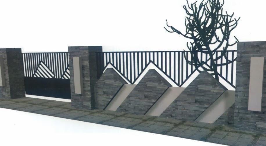 Kumpulan Gambar Pagar Tembok Rumah Minimalis