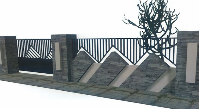 Gambar Pagar Tembok Rumah Minimalis