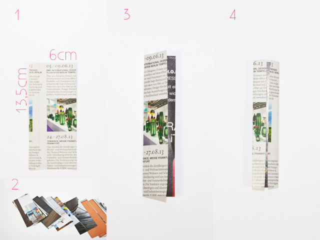Recycling Taschen selber machen - Papierstreifen falten