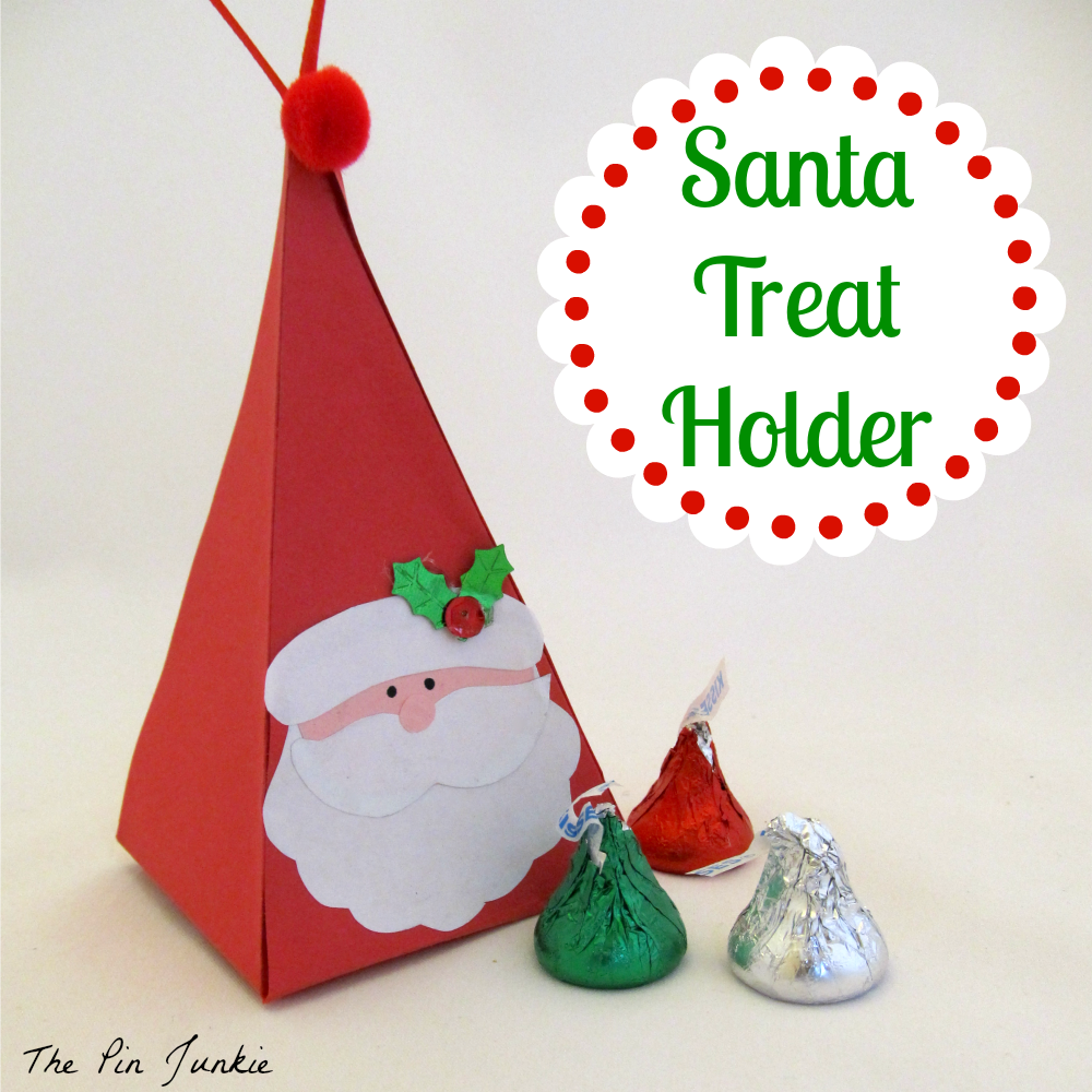 The pin junkie how to make paper bluebonnets - Santa Treat Holder