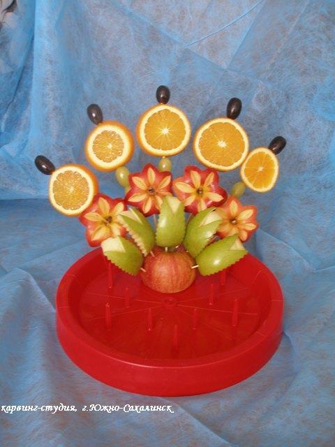Букет фруктов своими руками