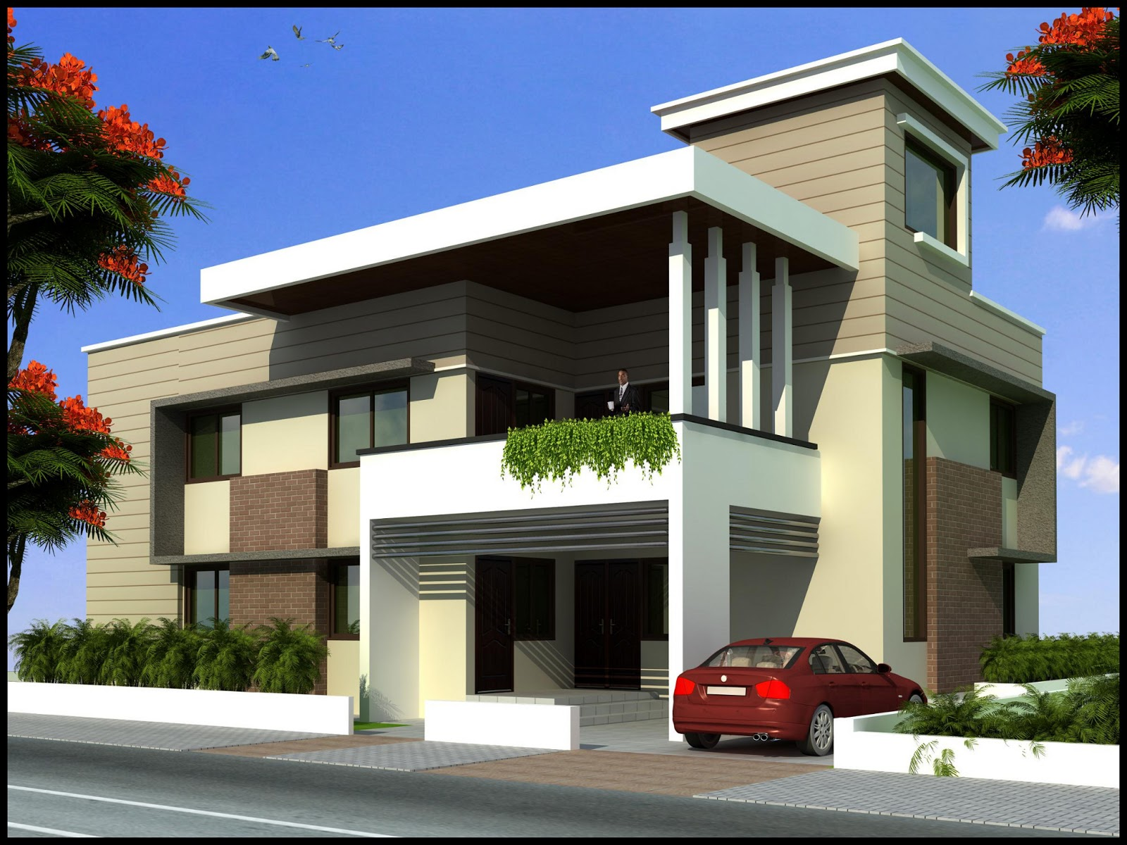 5 Bedrooms Duplex House Design in 357m2 (21m X 17m) ~ Complete ...