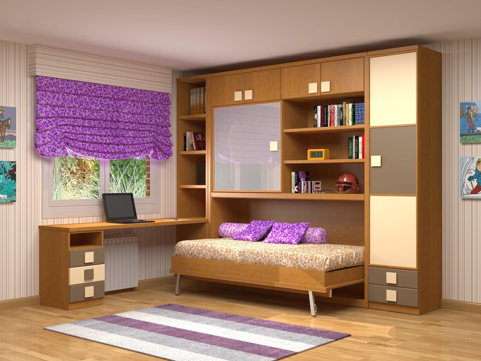 Camas abatibles juveniles para espacios reducidos simple for Muebles habitacion pequena