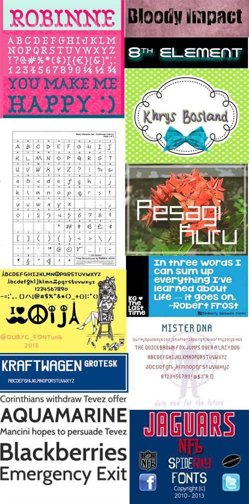 120 Free Internet Fonts 2013