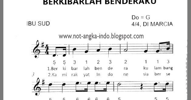 Lagu Lagu Wajib Nasional Dan Not Angka Dan Not Balok