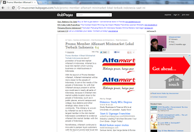 Backlink HubPages Keyword promo member Alfmart Minimarket Indonesia