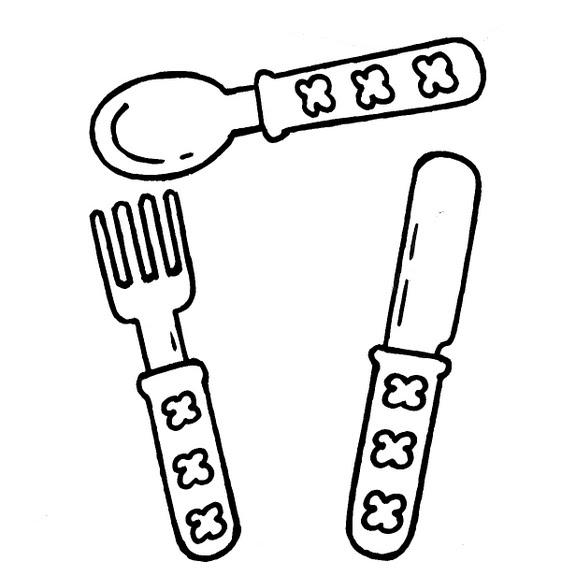 Dibujos infantiles dibujo infantil cubiertos - Imagenes de cocinas para imprimir ...