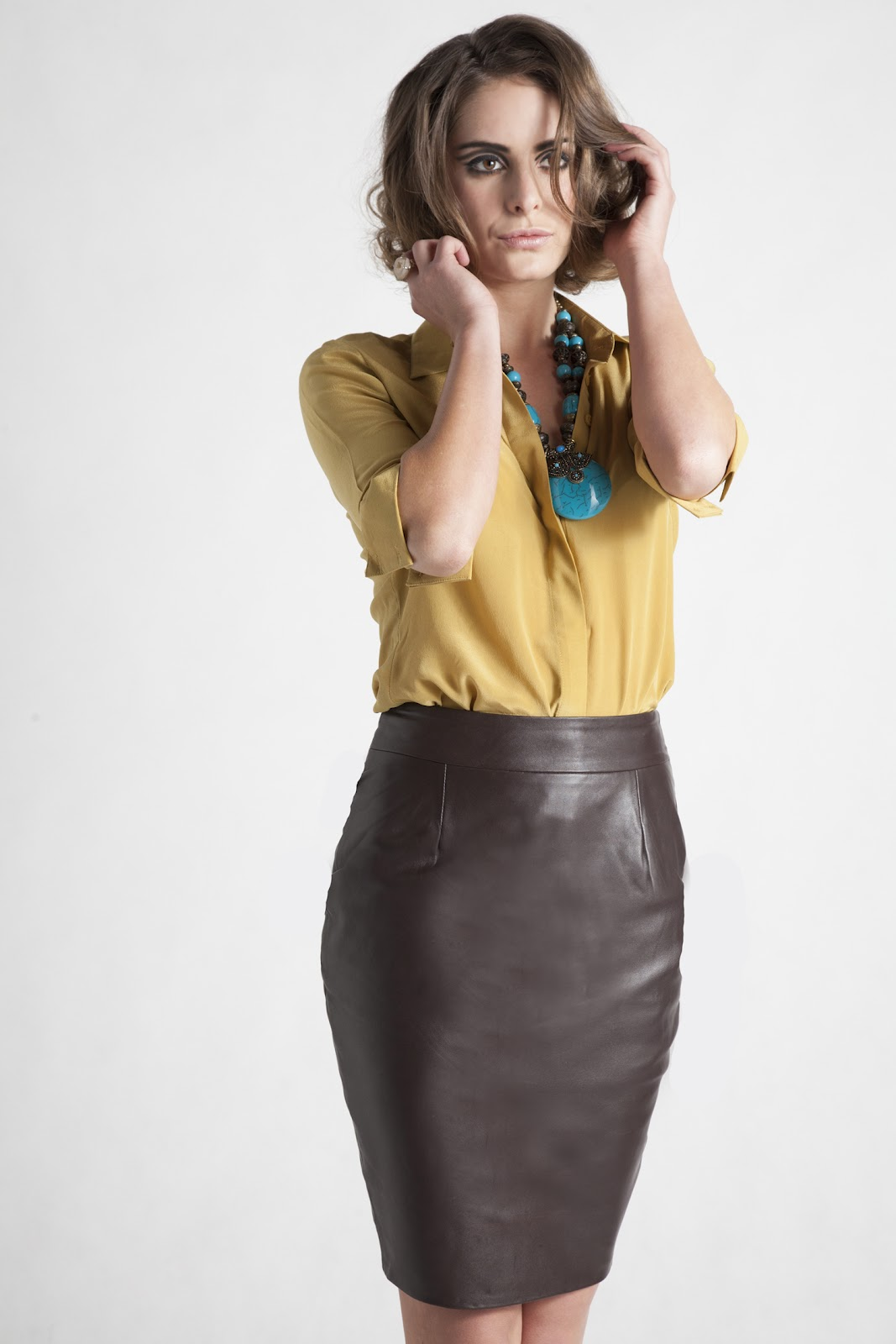 lovely in leather leather pencil skirt