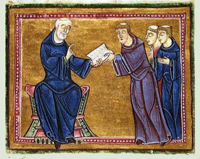 São Bento entrega a Regra a seus discípulos