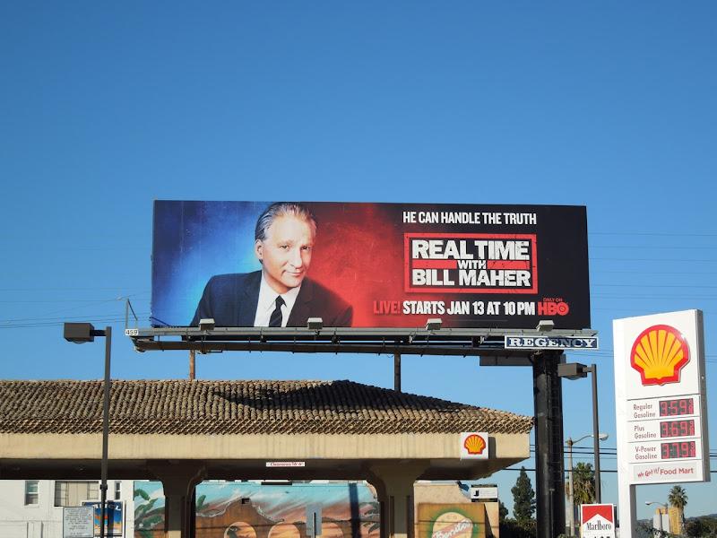Real Time Bill Maher TV billboard
