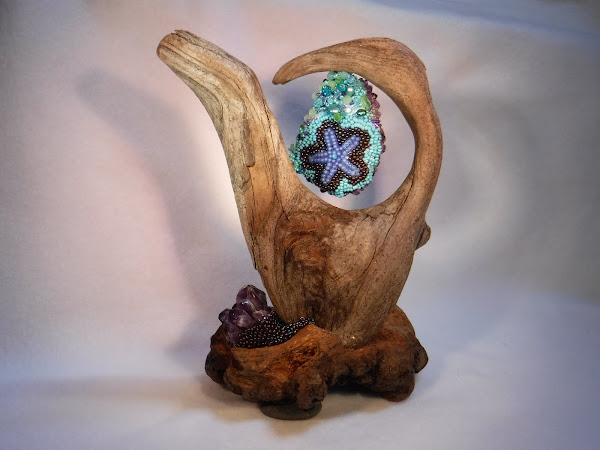 driftwood and crystal back