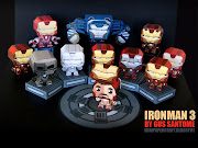 . mini paper toys of the armors appearing in the Iron Man 3 movie. (iron man paper toys)