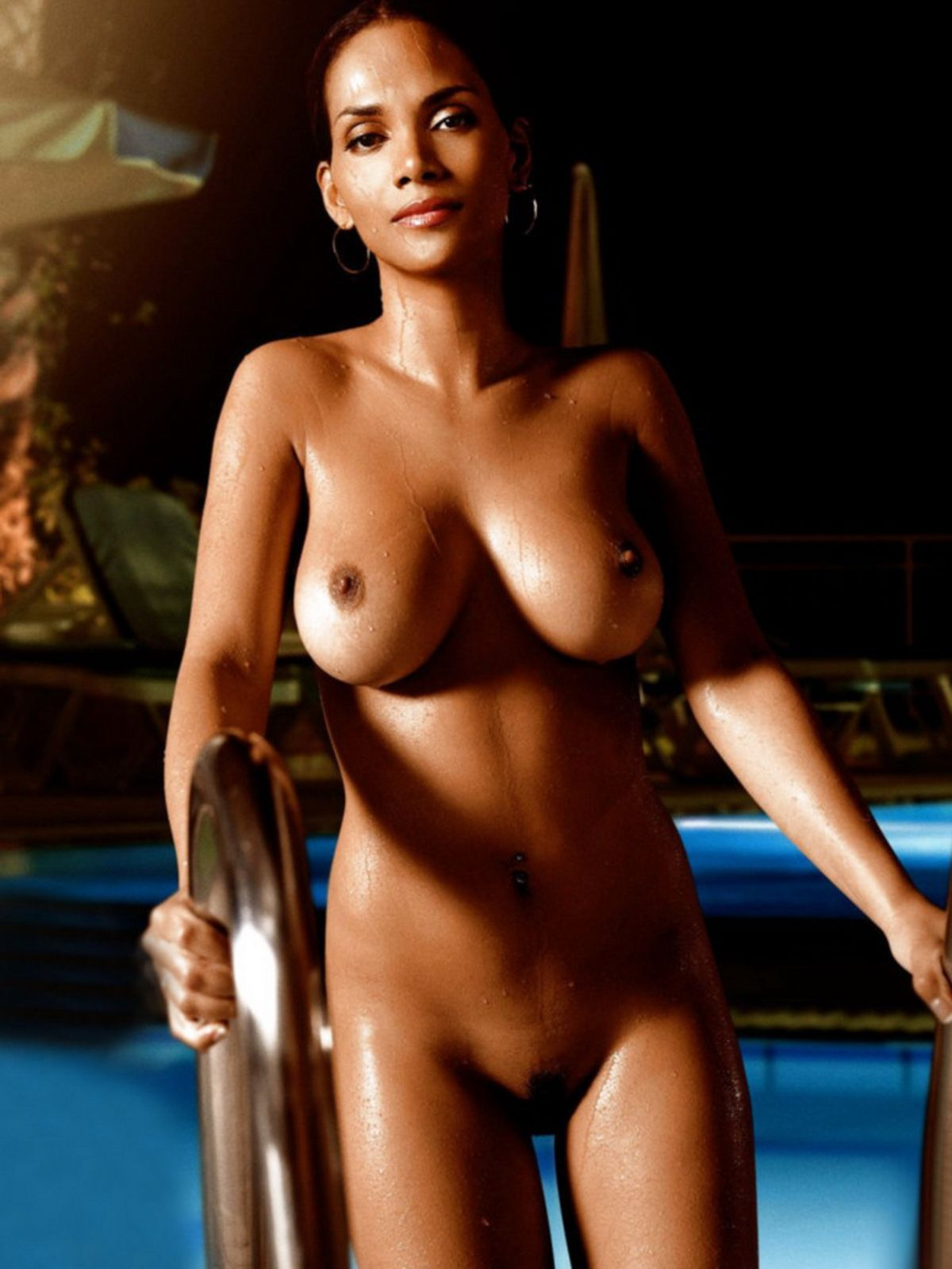 young halle berry topless