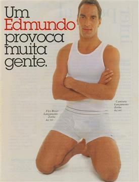 Propaganda do jogador Edmundo para a Zorba