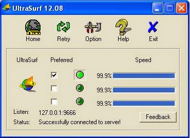 ultrasurf successfully connected to server picture