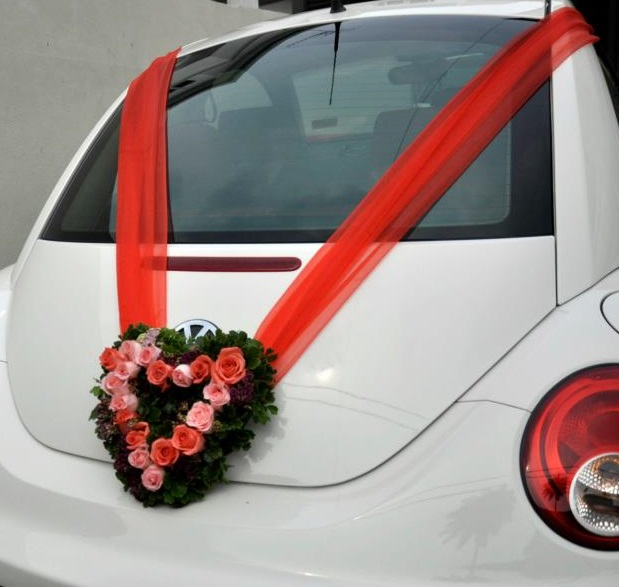 with leave for wedding car